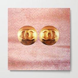 pink earrings classic vintage Metal Print