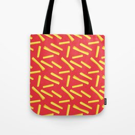 French Fries & Ketchup Pattern Tote Bag