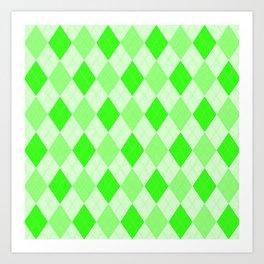 Green Geometric Pattern Art Print