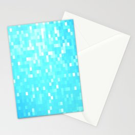 turquoise Pixel Sparkle Stationery Cards
