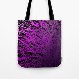 Linear Explosion - Purple Tote Bag