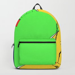 Black and Yellow Pencil Backpack