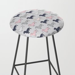 Doxie Love - Grey and Pink Bar Stool