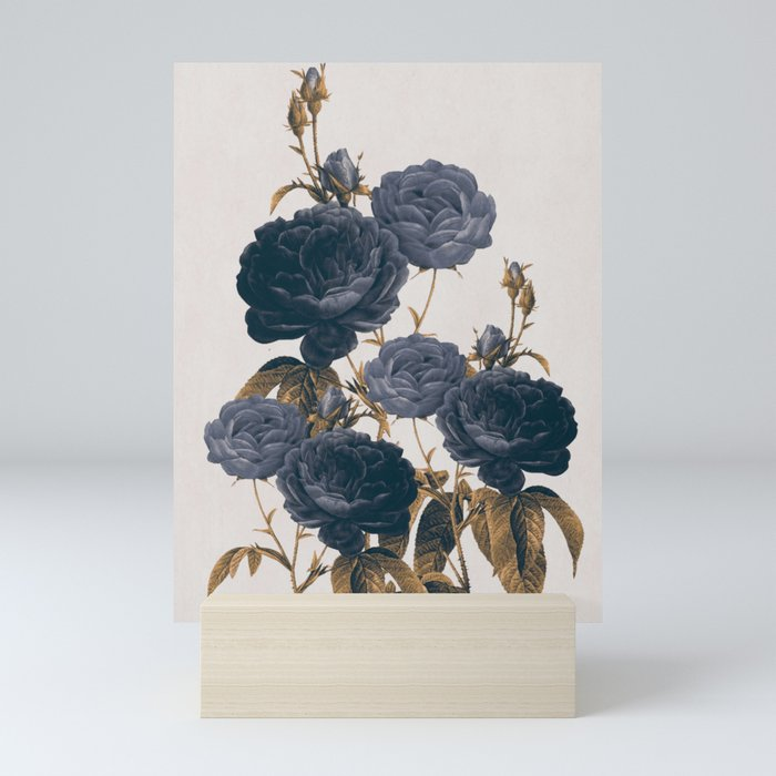 blue flowers Mini Art Print