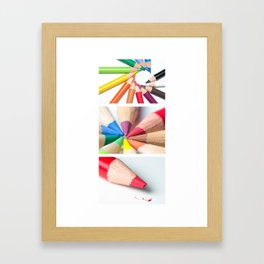 Coloured Pencils Framed Art Print
