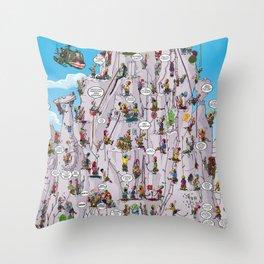 Bubble climbing Throw Pillow