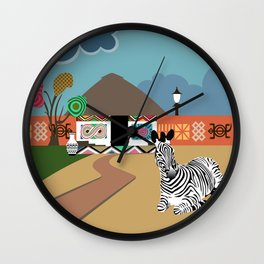 Ndebele Inspiration Vibes I Wall Clock