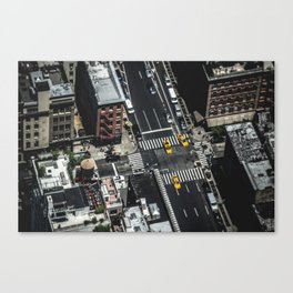 Little Yellow Cabs Canvas Print