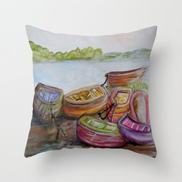 Summer Sun Throw Pillow