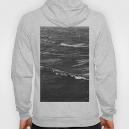 Black and white photo of a stormy sea Hoody