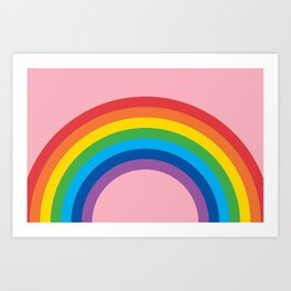 Rainbow Arch (Candy Pink) Art Print