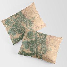 Vintage Colorado Natural Resources Map (1877) Pillow Sham