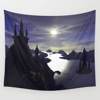 castle Wall Tapestries featuring castle by giancarlo lunardon