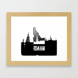 Idaho: Black & White Framed Art Print