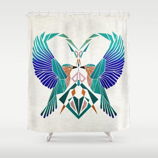 couple of blue birds Shower Curtain