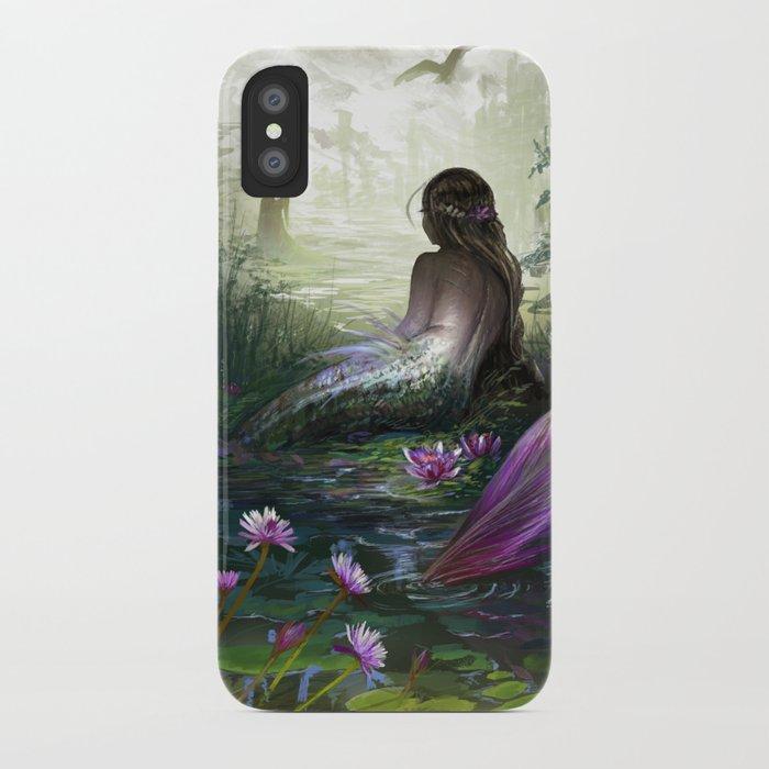 Little mermaid - Lonley siren watching kissing couple iPhone Case