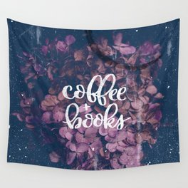 Coffee + Books Wall Tapestry