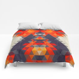 Abstract Triangle Mountain Comforters
