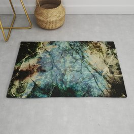 Marble ink abstract art Rug