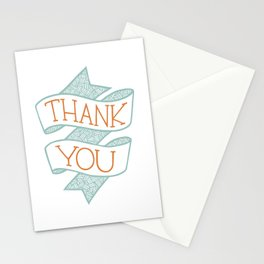 Thank You (colour version) Stationery Cards