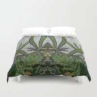 plants Duvet Covers featuring Plants by Gun Alfsdotter