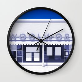 F.W. Woolworth All White Wall Clock