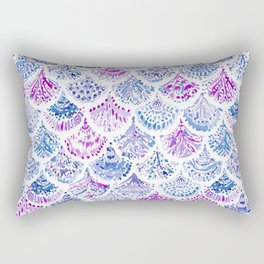 OCEAN PROTECTRESS Lavender Mermaid Scales Rectangular Pillow