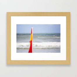 Australia Beach Swim Flag Framed Art Print