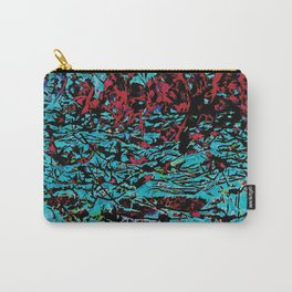 Flora Celeste Tourquoise Leaves Carry-All Pouch