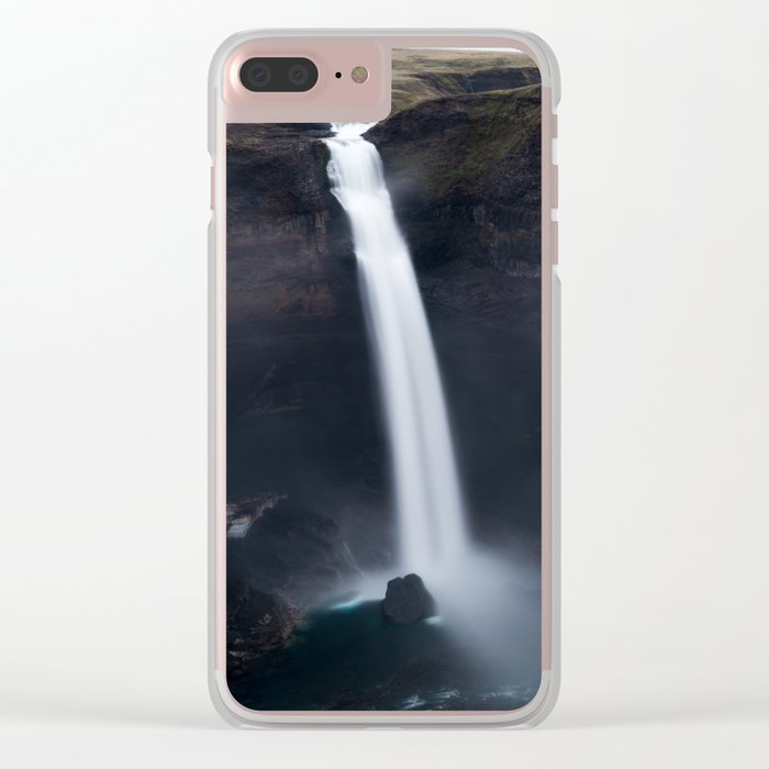 Dark Waterfall Clear iPhone Case