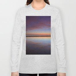 Purple sunset at the beach. Tarifa beach Long Sleeve T-shirt