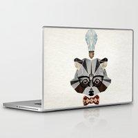 nerd Laptop & iPad Skins featuring raccoon nerd by Manoou