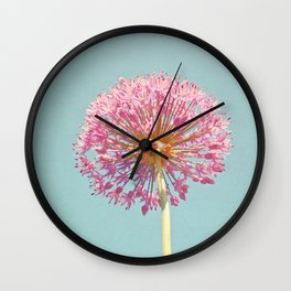 Pink Allium Wall Clock