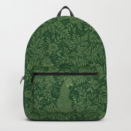 Spring Cheetah Pattern - Forest Green Backpack