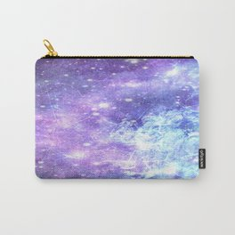 Grunge Galaxy Lavender Periwinkle Blue Carry-All Pouch