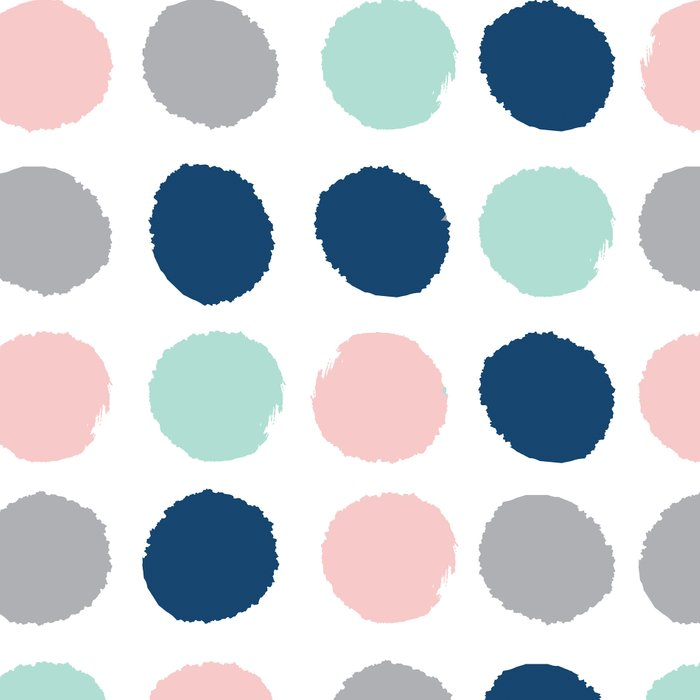 Zanthe - abstract trendy dots polka dots painted dot pattern blue pink pastel pantone color of the  Leggings