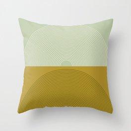 Minimal Rainbow Color Block Throw Pillow