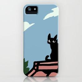 Outside Cat Contemplates iPhone Case