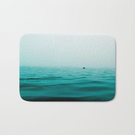 turquoise sea Bath Mat