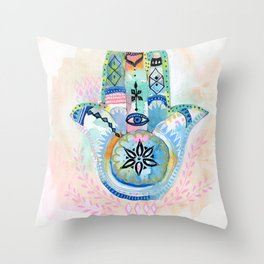 Morocco Hamsa Hand Throw Pillow