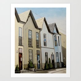 Bright Street Houses Art Print