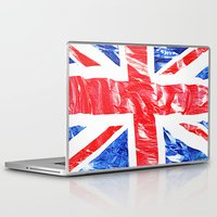 uk Laptop & iPad Skins featuring UK by arnedayan