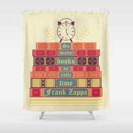 So many books - Frank Zappa Shower Curtain