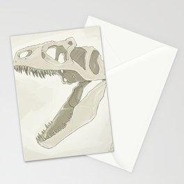 Allosaurus skull Stationery Cards