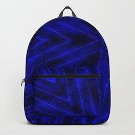 Deep Blue Paper Snowflakes Backpack