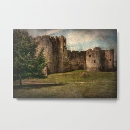 Chepstow Castle Towers Metal Print