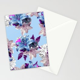 BLUE LILY WHITE ROSES 2020 Stationery Cards
