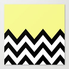 YELLOW COLORBLOCK CHEVRON Canvas Print