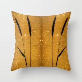 Delicate grasses - light and shadow #3 Throw Pillow
