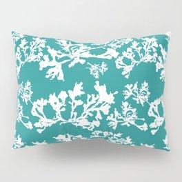 Turquoise Seaweed Pattern Pillow Sham